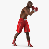 african american boxer red 3d model