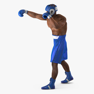 3d african american boxer rigged