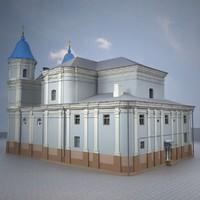 3d model of church