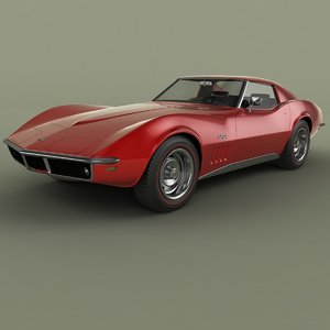 1969 chevrolet corvette c3 3d max