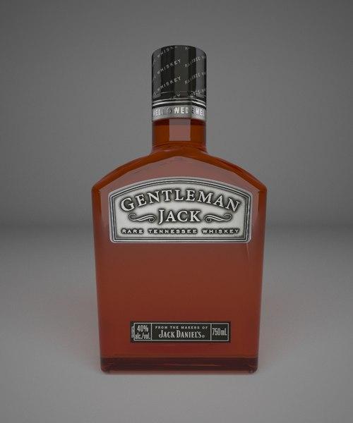 max gentleman jack whiskey bottle