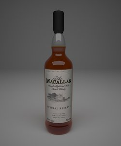 max macallan whiskey bottle