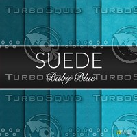 Baby Blue Suede Seamless Tileable Fabric Textures