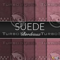 Bordeaux Suede Seamless Tileable Fabric Textures