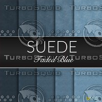 Faded Blue Suede Seamless Tileable Fabric Textures