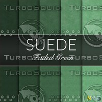 Faded Green Suede Seamless Tileable Fabric Textures