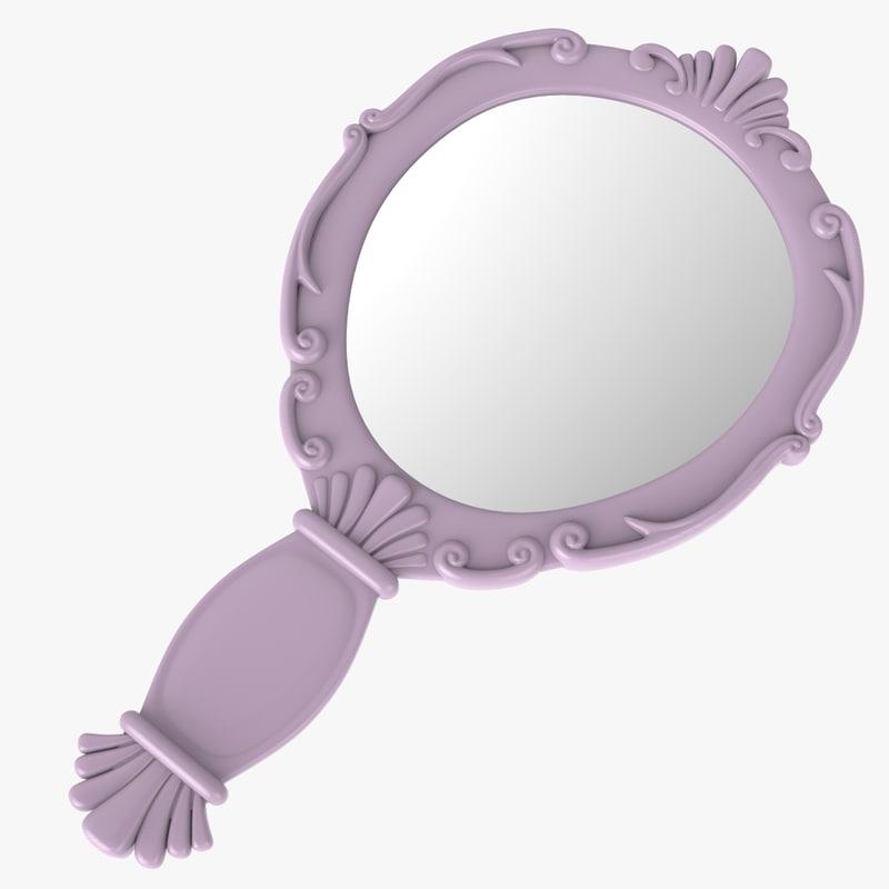 3ds vintage ladies mirror