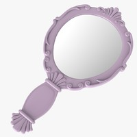 3ds vintage ladies mirror