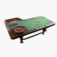 3d model roulette table