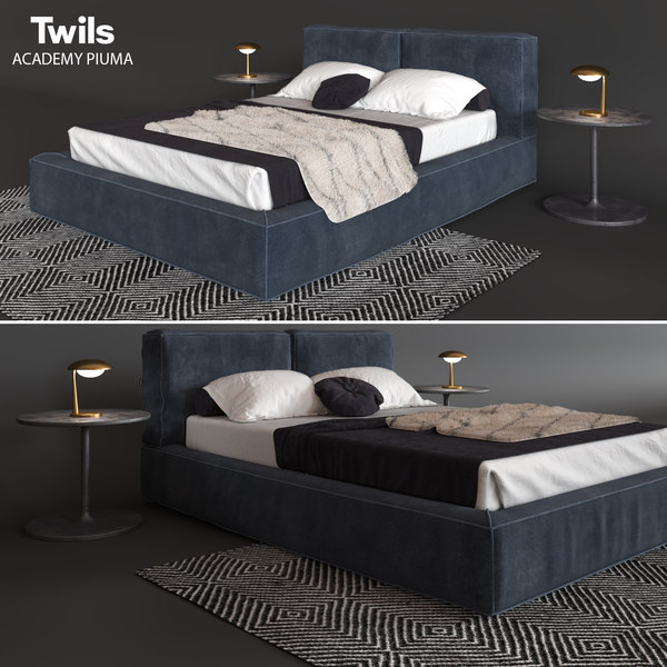 3d model bed twils academy piuma