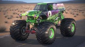 grave digger monster 3d model