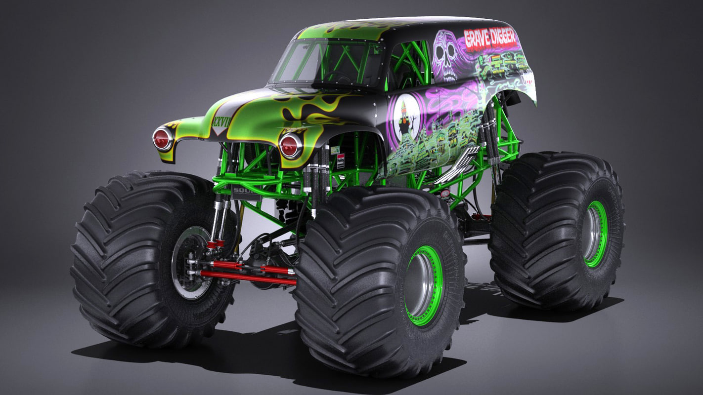 Monster truck grave 3d model for Monster 3d model