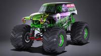 monster truck grave 3d model