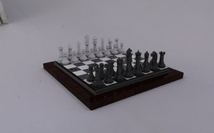 chessboard chess pieces 3d model