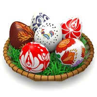3d hungarian easter eggs model