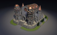 3d medieval fantasy church