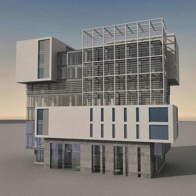 modern building obj