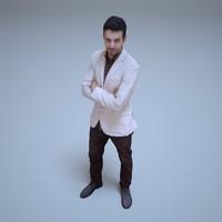 3d model arabian businessman human