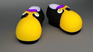 cartoon shoes 3d 3ds