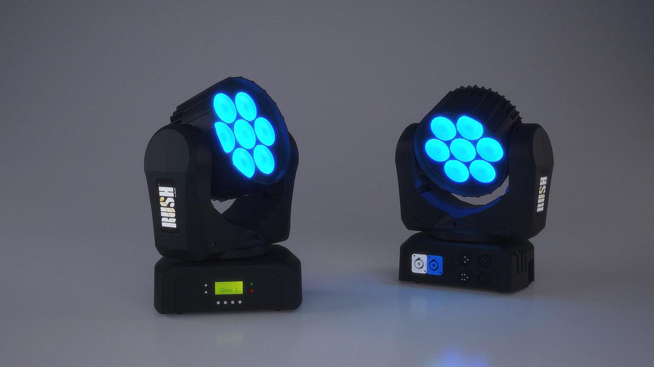 3d model stage light led