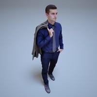 walking people human 3d model