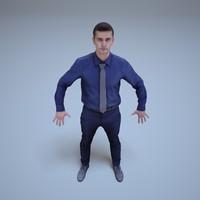 a-pose businessman human 3ds