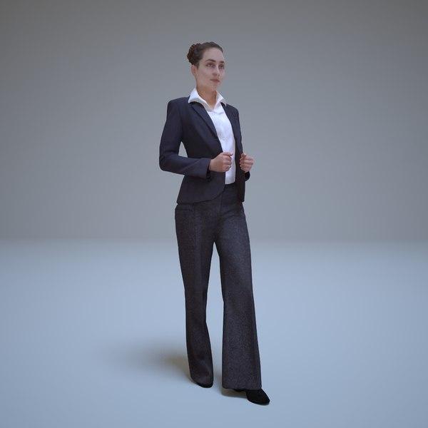 business woman standing human 3d max
