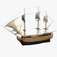 3d model sails hms victory