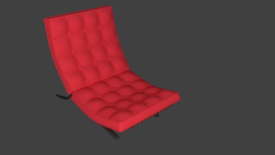 3d model chair upholstery