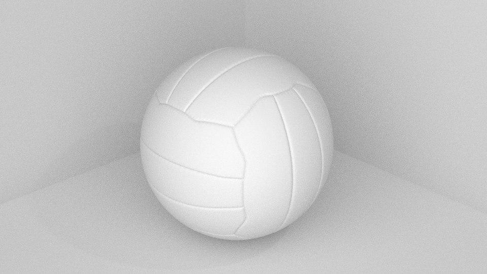 volley ball 3d blend