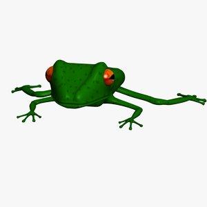 3d obj tree frog