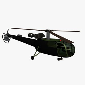 max helicopter alouette iii se3160