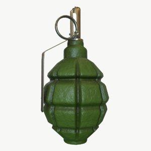 3d pbr f1 grenade