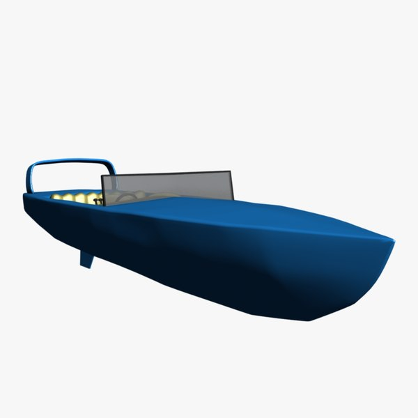 3d model speed boat racing