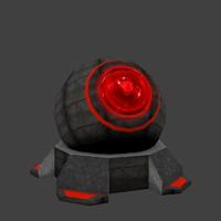 sci-fi turret 3ds