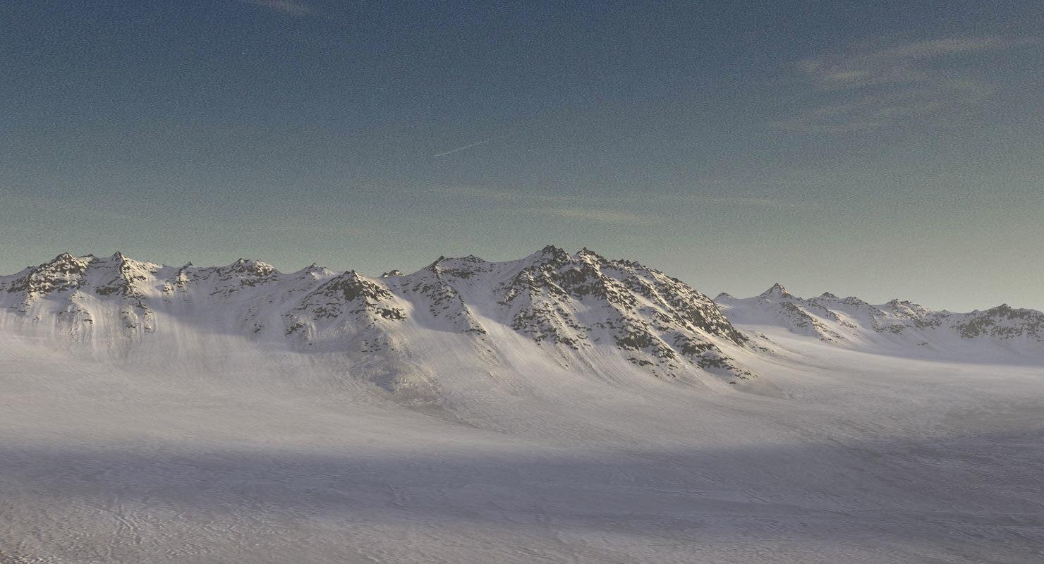 mountain range terrain landscape 3d model