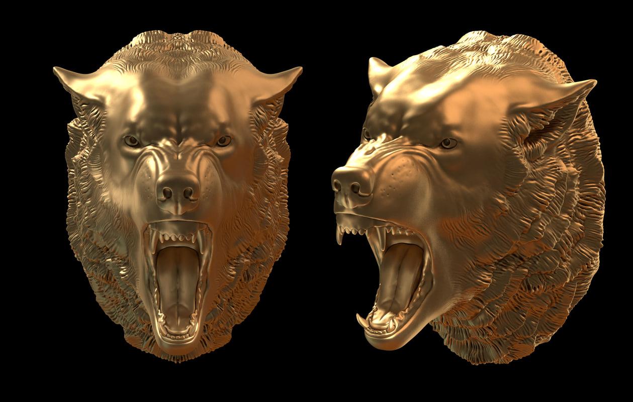wolf head obj