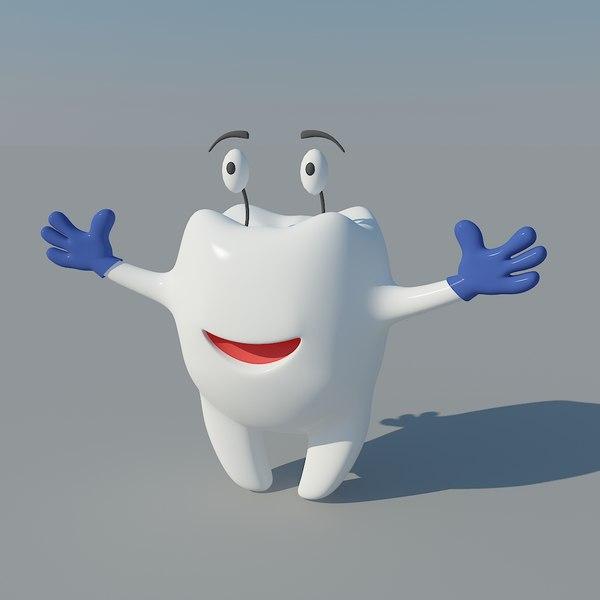 3d cartoon tooth