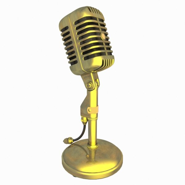 3d microphone phone mic model