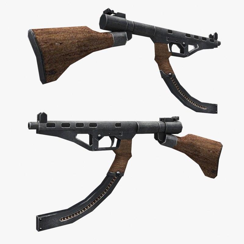 type 2 smg 3d model