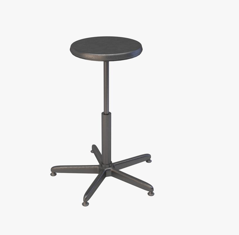 industrial stool 3d x