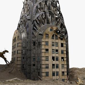 destroyed chrysler building 3ds