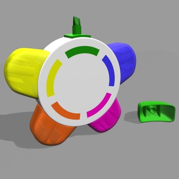 3d highlighter pens