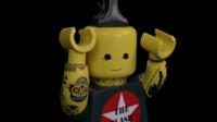 3d lego rock man model