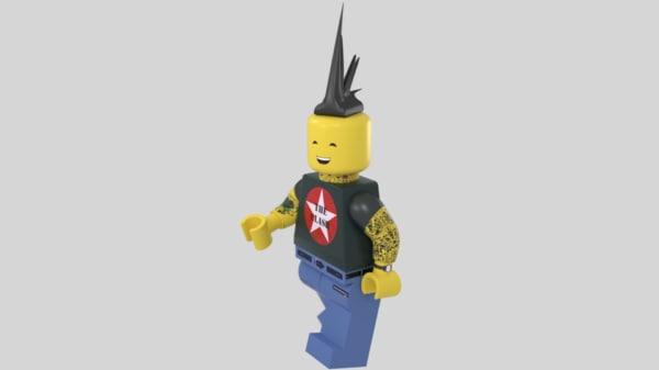 3ds lego rock man