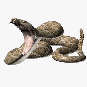 rattlesnake poses 3d max
