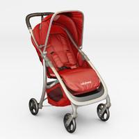 3d baby stroller babyhome emotion model