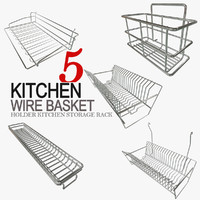 3d model holder kitchen storage basket