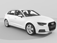 audi a3 sportback g-tron 3d max