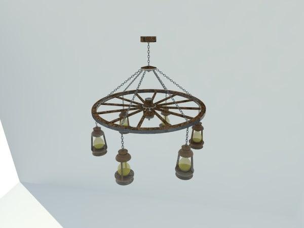chandelier wheel 3d 3ds